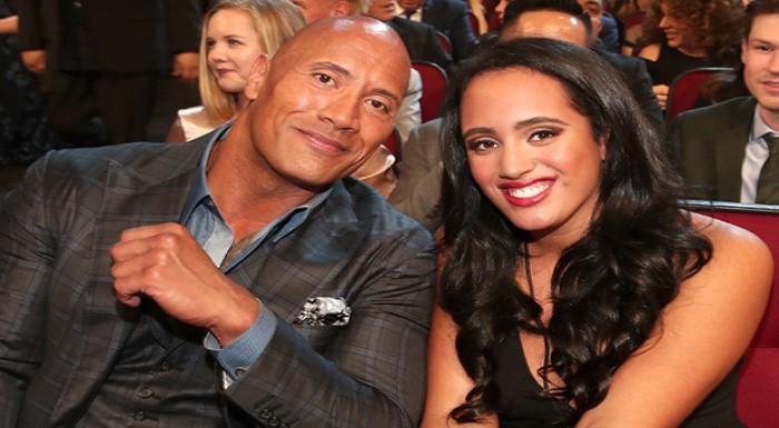 The Rock and Simone Johnson