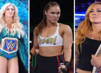 Becky Lynch Ronda Rousey Charlotte Flair