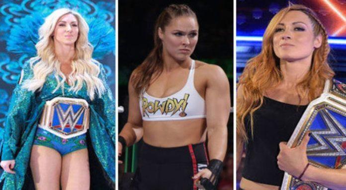 Becky Lynch Ronda Rousey Charlotte Flair