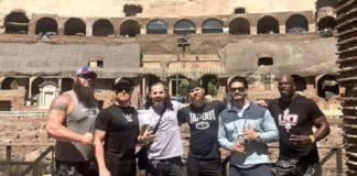 Rome Braun Strowman, Heath Slater, Matt Hardy, Curtis Axel, Roman Reigns, Titus O'Neil