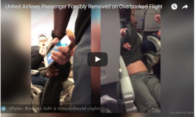 United Airlines Passenger Being Dragged