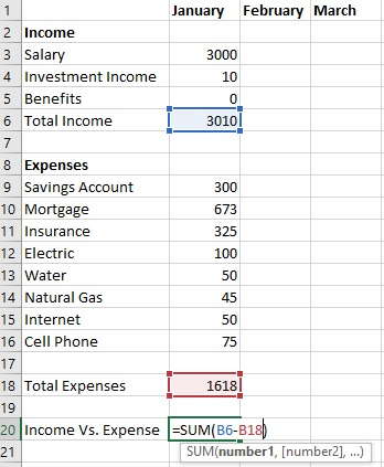 How To Create A Budget Template In Excel - The Finance Genie